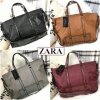 Zara trf leather tote bag