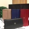 กระเป๋าสตางค์ LYN MONOCO Long Wallet 2016 กระเป๋าสตางค์ใบยาวรุ่นใหม่ล่าสุด วัสดุหนัง Saffiano สวยหรูสไตล์ PRADA ด้านหน้าประดับโลโก้เเบรนด์