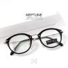 กรอบแว่น NEPTUNE - silver black แว่นทรงหยดน้ำ กว้าง 138 มม. (size M)