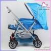 รถเข็นเด็ก 2 ทิศทาง รับเองนอนได้ ATTOON สีฟ้า