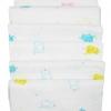 ผ้าอ้อมสาลูพิมพ์ลาย Jumbo Phant ผ้าฝ้าย 100% Cotton ขนาด 27*27 นิ้ว แพค 6 ผืน