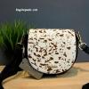 กระเป๋าสะพายข้างมินิ Charles&keith New Collection SADDLE BAG ลายขาว