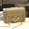 กระเป๋าสะพาย แฟชั่น สไตล์ Gucci marmont bag หนังลาย chevron ทรงกล่อง น่ารัก ราคา 990 ส่งฟรี ems