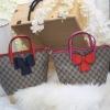 กระเป๋าถือสะพาย แฟชั่น สไตล์ Gucci Style รุ่นใหม่ มีซิปนะคะ Gucci Bo bag ลาย monogram ขนาด 9 นิ้ว 1190 ส่งฟรี ems