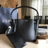 ZARA SHOULDER BAG WITH ZIPS DETAIL