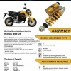 New..OHLINS Rebound , Preload, compression For Honda MSX 125