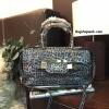 กระเป๋า Guess Silver LeoPard Leather Bowling Bag