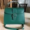 กระเป๋าถือสะพาย สีเขียว CHARLES & KEITH CIRCULAR BUCKEL HANDBAG (Size L) Free Ems