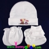 ชุดหมวก ถุงมือ ถุงเท้า ผ้าลิปเข้าชุดกัน (แพ็ค 6 เซ็ต)