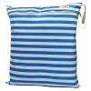 ถุงผ้ากันน้ำ 1 ช่อง Size: L (หูยางยืด) i5 -ลายทางฟ้า/ขาว