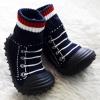รองเท้าถุงเท้าพื้นยางหัดเดิน ลายรองเท้ากีฬา size 20-25