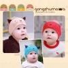 หมวกเด็กอ่อน ผ้ายืด Cotton รูปแมวเหมียว สำหรับเด็ก 3-24 เดือน