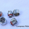 Compress fitting 1/2 Silver