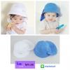 หมวกเด็กปีกกว้าง หมวกซันเดย์ ลายสับปะรด (มี 2 สี)