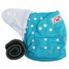กางเกงผ้าอ้อมกันน้ำ+แผ่นซับชาโคลหนา5ชั้น Size 3-16 kg.-Sky Blue
