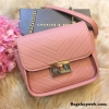 กระเป๋า CHARLES & KEITH PUSHLOCK CROSSBODY BAG สีชมพูพีช ราคา 1,390 บาท Free Ems