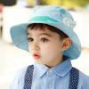 HT496••หมวกเด็ก•• / หมวกปีกกว้าง-บอลลูน (สีฟ้า)