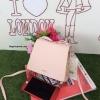 กระเป๋า Snidel store top ribbon bag สีชมพู แบรนด์จากญี่ปุ่น สไตล์คุณหนู ขนาดมินิ