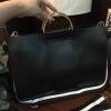 กระเป๋าถือหรือสะพาย Zara Tote With Metallic Handles 2017 สีดำ ราคา 1,390 บาท Free Ems