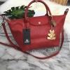 KEEP BAG กระเป๋า Keep ทรง longchamp รุ่น Duo Sister Classic -สีแดง Red apple