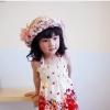 หมวกปีกสาน สไตล์เกาหลี ประดับดอกไม้ผ้าสวยหวานน่ารัก