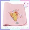 ผ้าห่มเด็กอ่อน fleece blanket สีชมพู