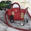 KEEP BAG กระเป๋า Keep ทรง longchamp รุ่น Duo Sister Mini -สีแดง Red apple