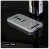 เคส Zenfone 2 Laser (5.0 นิ้ว) l เคสฝาหลัง + Bumper ขอบกันกระแทก สีเงิน