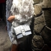 CHARLES & KEITH CHEVRON DETAIL TEXTURED SLINGBAG กระเป๋าสะพาย ขนาดกำลังน่ารัก