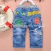กางเกงยีนส์เด็กเล็ก ขายาว ลายอักษรจีนเท่ๆ ใส่สบาย วัย 6-30 เดือน