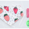 ผ้าซับน้ำลายสามเหลี่ยม ผ้ากันเปื้อนเด็ก [ผืนเล็ก] / Strawberry