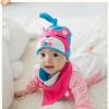 AP177••เซตหมวก+ผ้ากันเปื้อน•• / หมี [สีชมพู+ฟ้า]