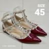 รองเท้าส้นแบนไซส์ใหญ่ วาเลนติโน Valentino Style สีไวนแดง ไซส์ 45 รุ่น KR0399