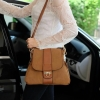 กระเป๋า David Jones Leather (bag) กระเป๋าสะพายข้างดีไซน์เกร๋มาก classic brown สวยมาก