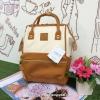 กระเป๋าเป้ Anello Polyurethane Leather Rucksack Mini Two-Tone ใหม่ล่าสุด!!!