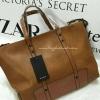 กระเป๋า Zara Trf Leather Tote Bag สีน้ำตาล ราคา 1,290 บาท Free Ems