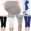 กางเกงเลคกิ้งคนท้อง ขาสามส่วนปลายขารูด เนื้อผ้านิ่มใส่สบาย ไม่บาง