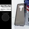 เคส Zenfone 3 Deluxe (ZS570KL) เคสนิ่ม TPU พร้อมจุด Pixel ขนาดเล็กด้านในเคสป้องกันเคสติดกับตัวเครื่อง สีดำใส (ผิวมัน)