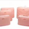 ชุดจัดกระเป๋าเดินทาง 5 ใบ จัดกระเป๋าเดินทาง ประหยัดเนื้อที่ มีสไตล์ กันน้ำ เลือก 4 สี สีชมพู, ฟ้า, เทา, แดง