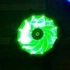 พัดลม 92มม. (9 ซม.) ไฟ LED เขียว 4 พิน PWM