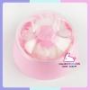 กระปุกแป้งตลับแป้งเด็ก size ใหญ่ สีชมพู
