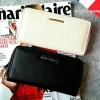 กระเป๋าสตางค์ หนัง Saffiano สุดหรู ทรงยาว แท้ ยี่ห้อ MANGO หนัง Hi-End แบบ Prada ทรงซิปรอบ รุ่นชน Shop online หนัง saffiano เก๋ ดูดีมากๆค่ะ มีช่องใส่บัตร และช่องซิปใส่เหรียญ คุ้มมากมายค่ะ พร้อมส่ง สีดำ, สีเบจ