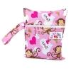 Small Wet Bag ถุงผ้ากันน้ำขนาดเล็ก - Pink Monkey