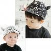 หมวกแก็ปเด็ก Devil ลายดาวสีขาวดำเท่ๆ สไตล์เด็กเกาหลี