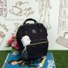 กระเป๋าเป้ Anello The emporium สีดำ (limited edition) ขนาดมินิ กำลังดี วัสดุผ้าแคนวาสสลับหนัง polyester