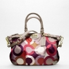 กระเป๋า Coach Madison Graphic Op Art Sophia F18636