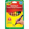 สีเทียน Crayola สีเทียนแท่งสามเหลี่ยม ขนาดใหญ่ 8 สี เหมาะมือ สำหรับเด็กเล็ก 24 เดือนขึ้นไป ล้างออกได้ ปลอดสารพิษ