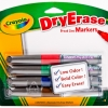 ปากกาไวท์บอร์ด Crayola นอนท๊อกซิก ลบได้ ปลอดภัยสำหรับเด็ก แพก 4 แท่ง