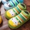 ถุงเท้ารองเท้า มีกันลื่น เนื้อผ้านุ่มนิ่ม สำหรับเด็กวัย 0-2 ปี ลายยีราฟสีเขียว