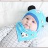 AP207••เซตหมวก+ผ้ากันเปื้อน•• / แพนด้า [สีฟ้า]